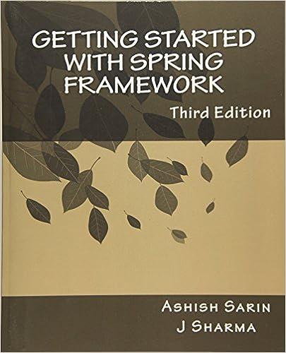 Pdf sarin ashish started getting framework with spring