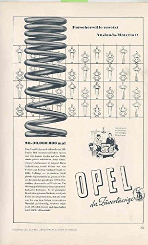 1938 Opel Automobile Springs Magazine Ad Sachs Motorcycle for sale  Delivered anywhere in USA