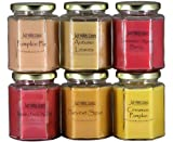 jack and the bean pie - Just Makes Scents Autumn Fragrance Candle Pack - Autumn Leaves, Apple Jack-N-Peel, Cinnamon Apple Berry, Harvest Spice, Pumpkin Pie, and Cinnamon Pumpkin with