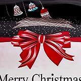 LAMEJOR Duvet Cover Set Queen Size Christmas Theme
