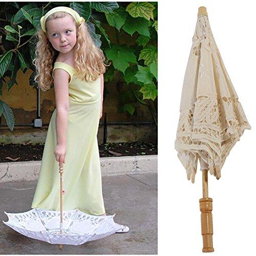 Kids Lace Sun Umbrella,Gsha Handmade Cotton Parasol Umbrella Costume Accessory 3-5Years by Gsha (Image #4)