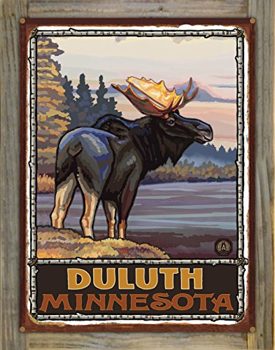 Duluth Minnesota Rustic Metal Print on Reclaimed Barn Wood by Paul A. Lanquist (18