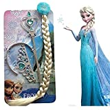 NEW FROZEN PRINCESS ELSA PLAIT TIARA AND WAND SET BY BABY AND BLOSSOMS