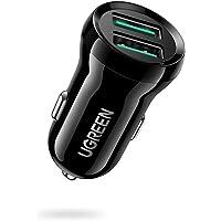UGREEN 24W Dual USB QC3.0 Port Mini Fast Car Charger