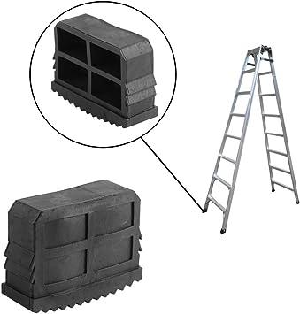 2 pies para escalera universales de goma, pies antideslizantes de goma, pies para escaleras de goma, pies de goma para pies de seguridad antideslizantes para escaleras de importación: Amazon.es: Bricolaje y herramientas