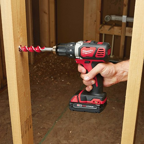 Milwaukee M18 18V Lithium-Ion 1/2 Inch Cordless Drill Driver Compact Kit 2606-21CT