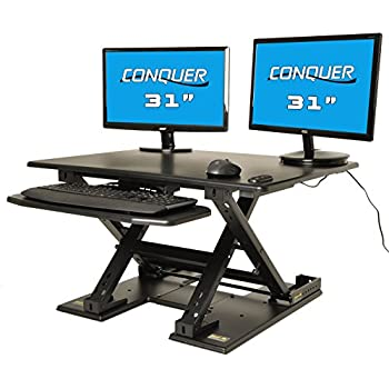amazon com the edge desk system ergonomic adjustable