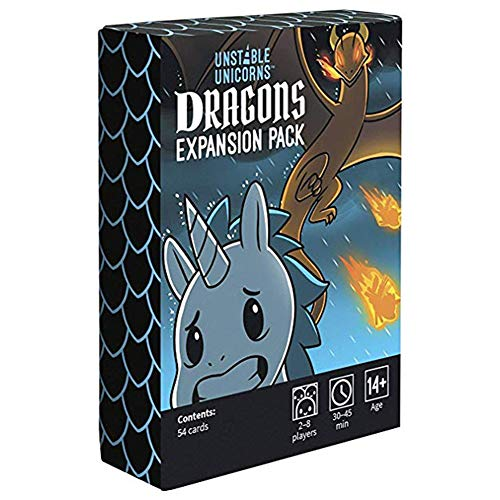 Funny Cards Game for Adult Unstable Unicorns Dracons Expansion Pack