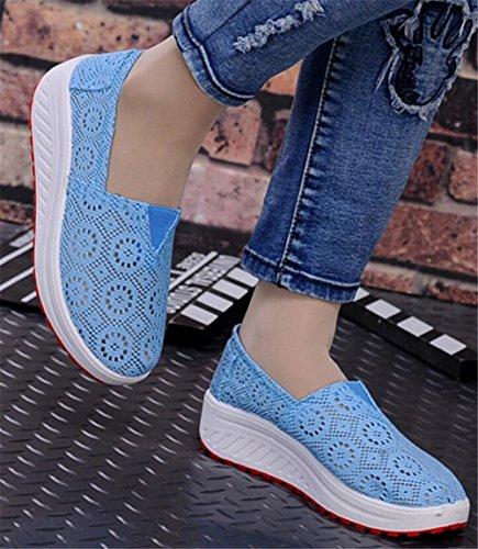 Volwassen Dames Shape Ups Gaas Wandelschoenen Casual Mode Sneakers Blauw