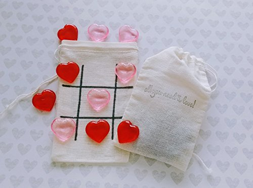 Mini tic tac toe game - Valentine's Day Gift - All you need is love - Kids games - Couples gifts - Wedding Favors - Road trip games- Games on - Needs Trip Camping