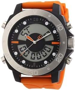 Hugo Boss Boss Orange - Reloj digital de cuarzo para hombre con correa de silicona, color naranja