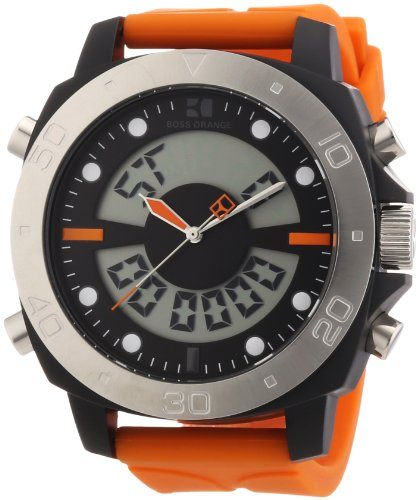 Hugo Boss Orange Analog-Digital Chronograph Dial Mens Watch 1512681