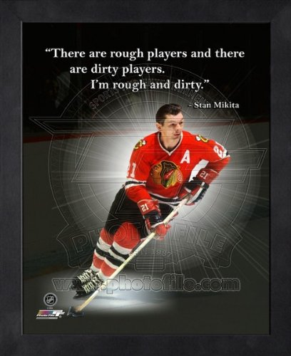Stan Mikita Chicago Blackhawks Pro Quotes Framed 8x10 - Mikita Glasses