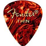 Fender 351 Shape Classic Thin Celluloid Picks, 12 Pack, Shell