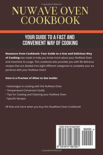 Nuwave Oven Cookbook Your Guide To A Fast And Convenient Way Of