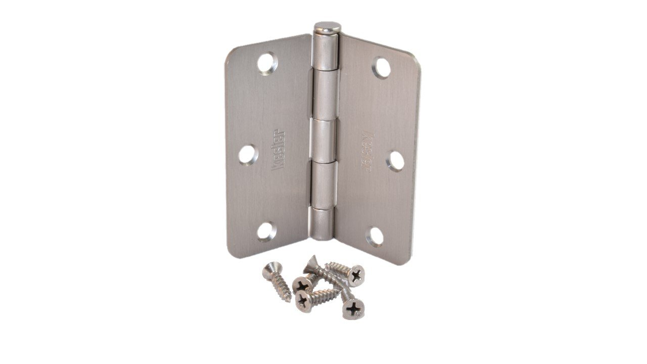 (Pack of 50) Kesler 3 1/2 Inch Satin Nickel Door Hinges (1/4'' Radius Corners)