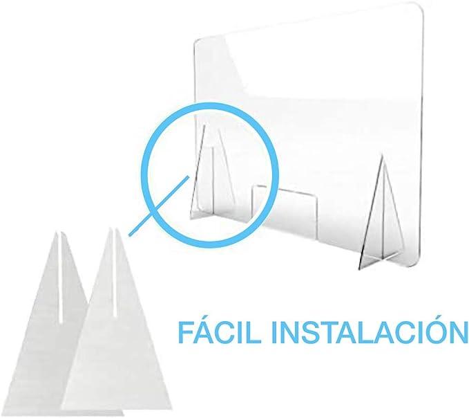Mampara de metacrilato mostrador 5mm proteccion para oficinas mostradores manicura sobremesa material transparente (80X100): Amazon.es: Bricolaje y herramientas