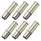 GRV Ba15d 1076 1142 1176 LED bulb 126-3014 SMD AC/DC 11-28V 4W High Bright Cool White Pack of 6
