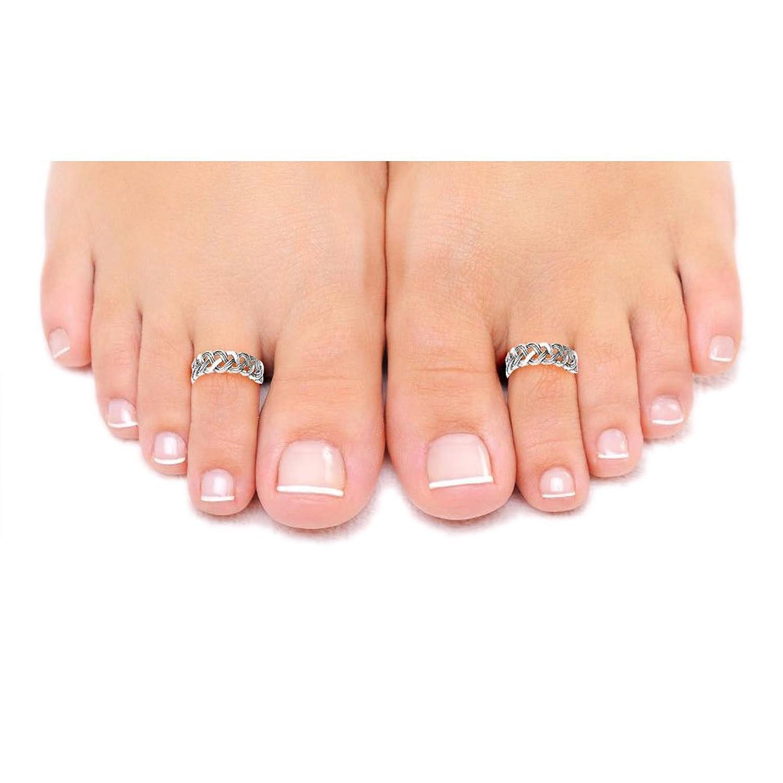 Super Buy Taraash Cutwork 925 Sterling Silver Toe Ring For Women LR0723A  XR78