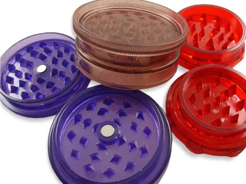 3 Pack of Assorted Economy Herb Grinders Ships in assorted colors