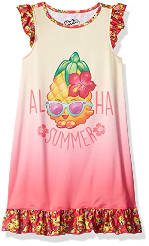 opkins Aloha Ruffle Nightgown, Pink, 7/8 (Aloha Girl)