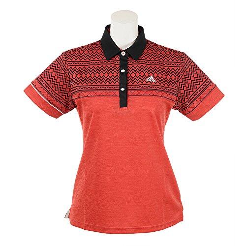 アディダス Adidas 半袖シャツ?ポロシャツ パネルプリント 半袖ポロシャツ レディス レッド M