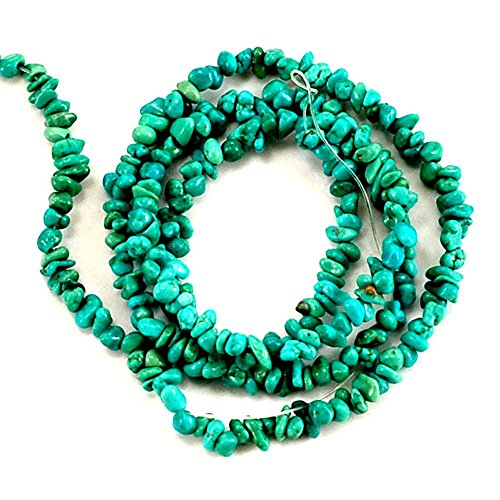 01 Green Hubei Turquoise Chips 2-4mm for Necklace Gemstone Loose Beads 15
