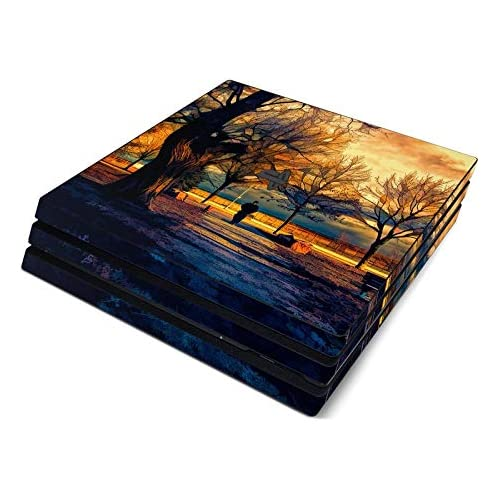 Man and Dog Full Faceplates Skin Decal Wrap with 2 Piece Lightbar Decals for Playstation 4 Pro
