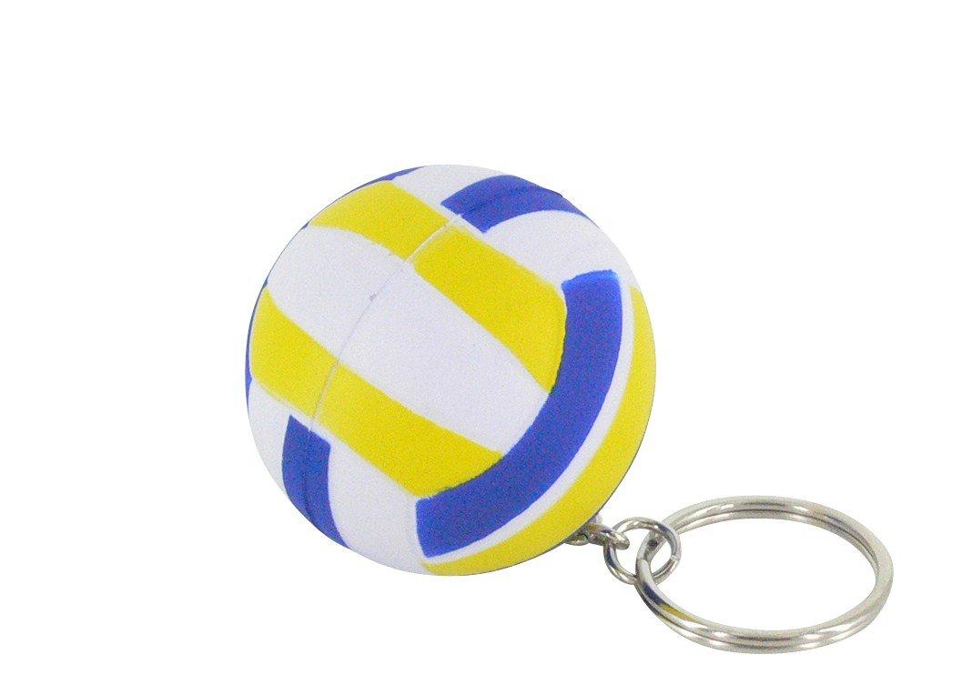 Sepia nuevo lindo clave azul de goma Mini Voleibol forma clave lindo cadena 2c5d89