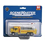 Walthers SceneMaster International 7600 Utility Truck with Bucket Lift, Yellow