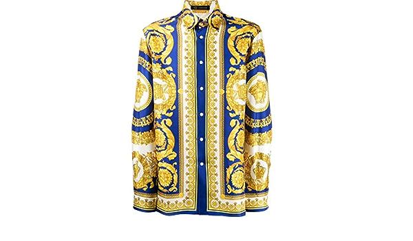 Versace Camisa de hombre A75980A230628A741 Seda Oro dorado ...