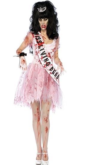 Fanessy Zombie Prom Queen Abschlussball Leiche Halloweenkostüm ...
