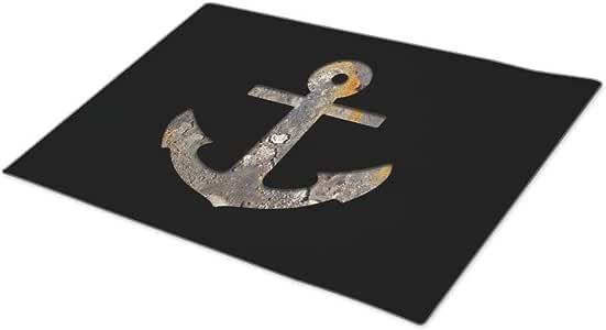 chirshion Custom Doormat Fishing Modern Door Mat Anchor