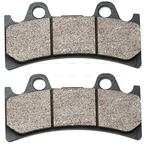 (CNBP Front or Rear Brake Shoe Pads Set fit for ALCON 6 Piston Racing/Street Caliper BOURGETS 6 Piston JAYBRAKE J-Six 300-64 6 pistontype semi Metallic)