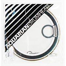 Aquarian Drumheads SKPII22WH Super-Kick II Prepack 22-inch Bass Drum Head, gloss white