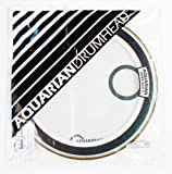 Aquarian Drumheads SKPII22WH Super-Kick II Prepack 22-inch Bass Drum Head, gloss white