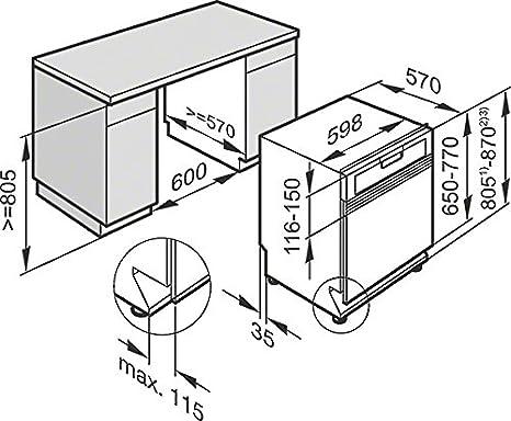 Miele – Lavavajillas de integrado con frente a vista g 4203 SCi ...