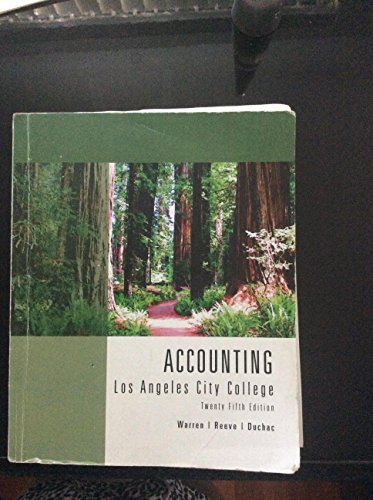 Accounting By Warren,reeve,duchac Thenty Fifth Edition (25 Warren E Accounting)