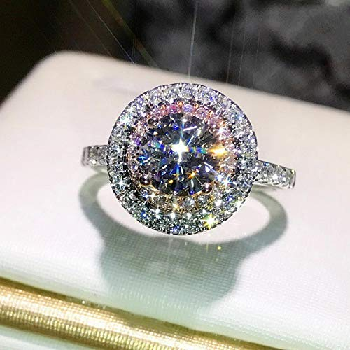 Dokis 925 Silver Aquamarine Amethyst Ring Women Men Gift Fashion Jewelry Wedding 6-10 | Model RNG - 17135 | 10