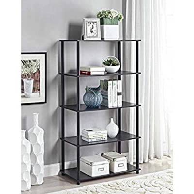 Mainstays No Tools Assembly 8-Cube Shelving Storage Unit (Black Oak)