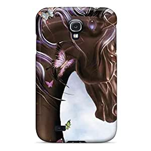 High Quality Shock Absorbing Case For Galaxy S4-brown Unicorn