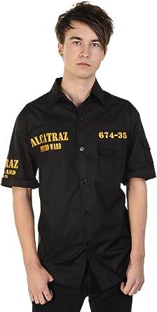 Banned - Camisa Formal - para Hombre Negro Negro: Amazon.es: Ropa y accesorios