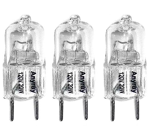 - Anyray (3)-Lamps Replacement Light bulbs 120V 20-Watt for GE Microwave WB36X10213 20W