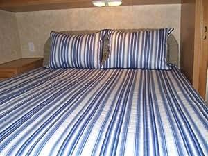 """Amazon.com: Short Queen Bedspread Camper / RV """"Nautical"""