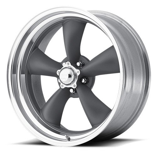 """American Racing VN215 Classic Torq Thrust II 1 Pc Mag Gray Wheel with Center Polished Barrel (20x10""""/5x127mm, 6mm offset)"""