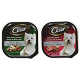 Cesar Slices Food Trays for Dogs - Prime Rib - Roast Turkey - 100g (12 Pack)