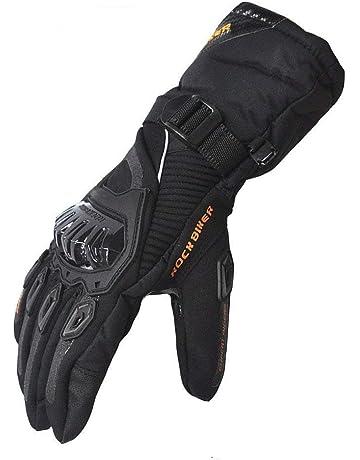 7329b0b9fa4 Guantes Moto Invierno Impermeable Pantalla Táctil Guantes Protectores de  Motociclismo Dedo Completo para Invierno