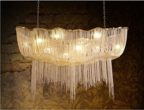 GOWE Italy Atlantis aluminum curtain lights villa living room wrought iron chandelier lustre moderne dining table light modern light by Gowe