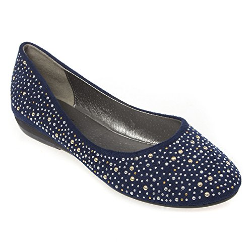 Womens 21-M1325 Closed Round Toe Flat Ballerina Ballet Shoes