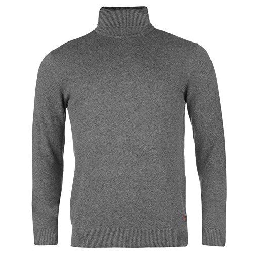 Kangol col roulé en tricot Pull pour homme Gris anthracite Pull Top